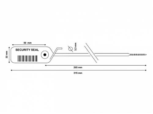 Sigillo di Sicurezza 3.3x315mm